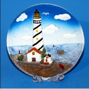 Lighthouse Plaque 1 Piece Decoration 5""